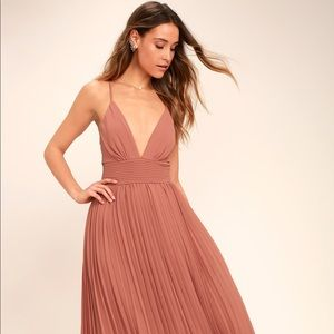 NWT Lulu's Depths of My Love Rusty Rose Maxi Dress
